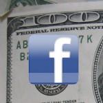 Facebook logo on 100 dollar bill