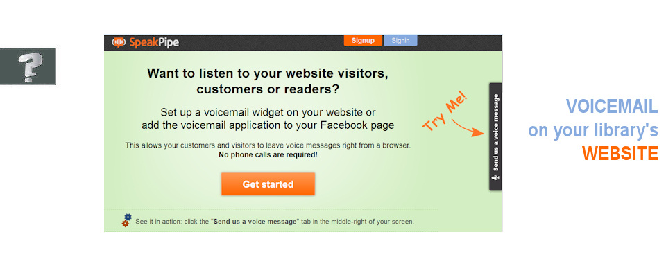 Voicemail for your website