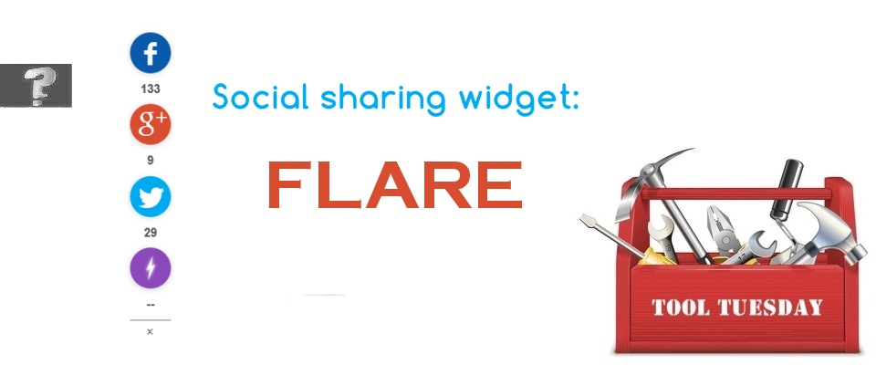 Social sharing widget Flare tool Tuesday