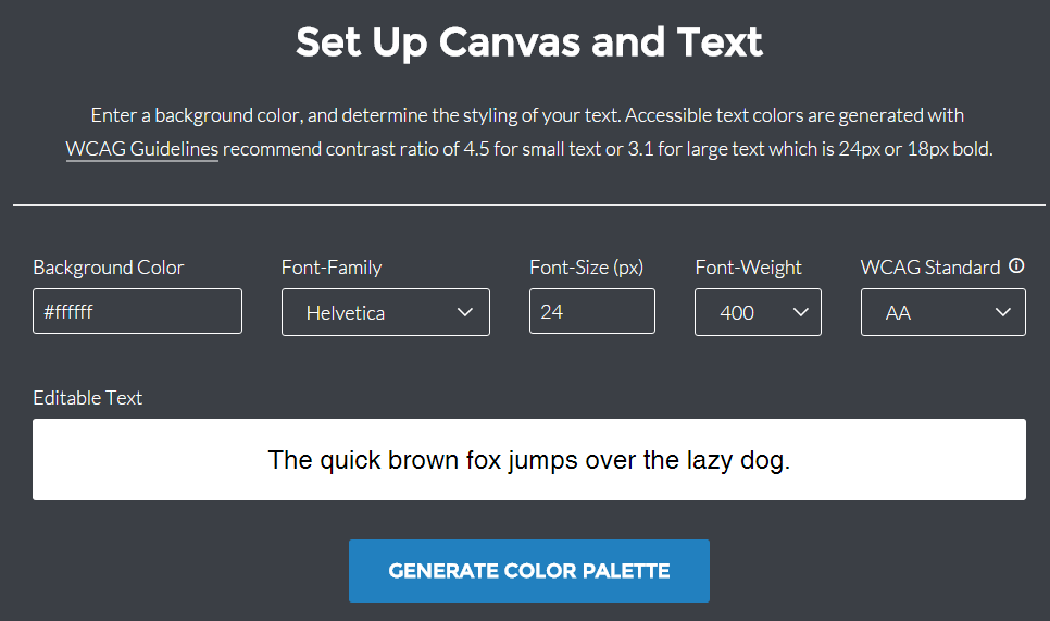 Screenshot of Color Safe Web Palette